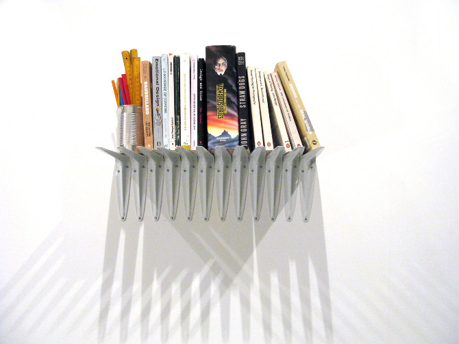 Shelf made of shelf brackets & Frame with spirit level bubble - ana ...